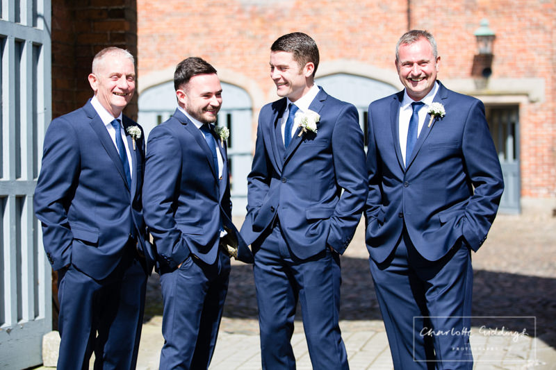 groom having banter with the boys