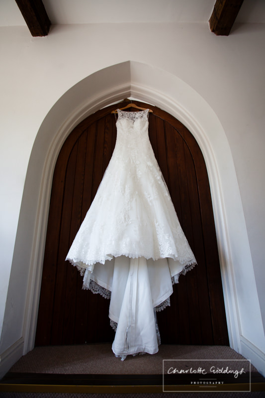 maggie sottero wedding dress at combermere abbey beckett cottage