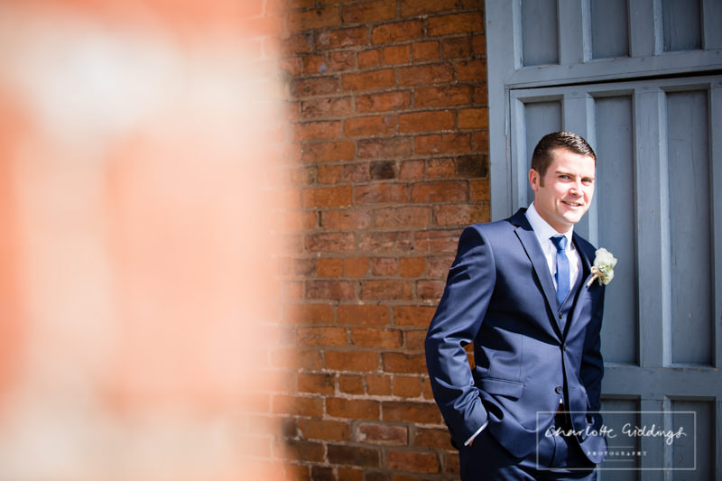 portrait of groom at combermere abbey cottages