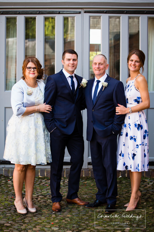 family photos at combermere abbey
