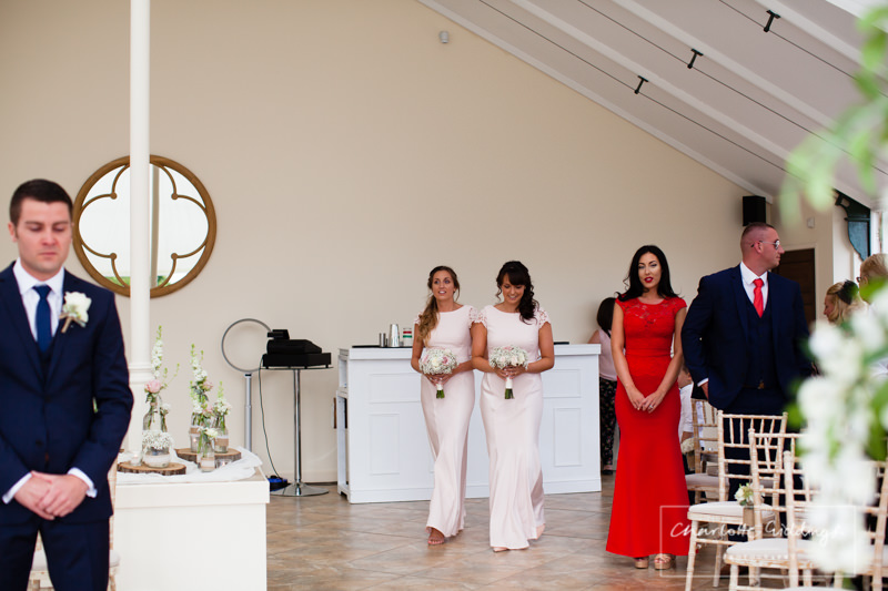 ceremony in glass house combermere abbey