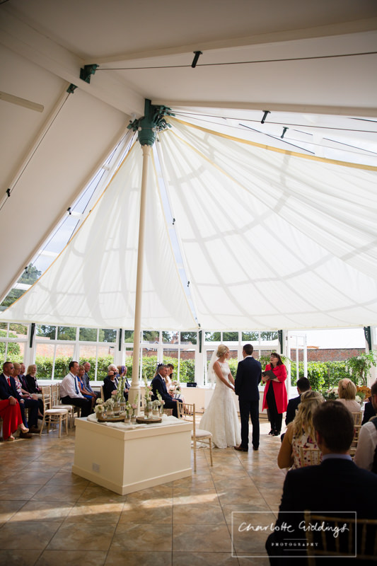 shot of the glasshouse from the back at combermere abbey
