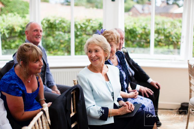 happy guests at wedding