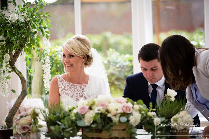 very happy bride now a wife