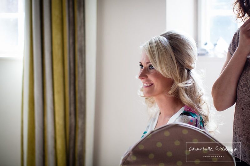 beautiful bride and natural light