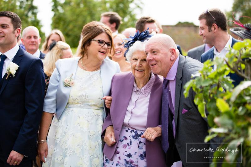 candid photo of nanna at wedding