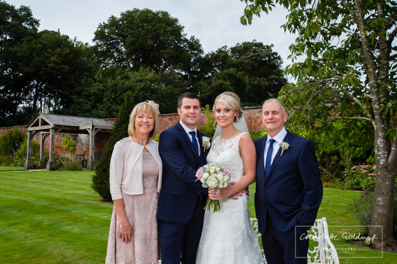 groom family photos at combermere abbey