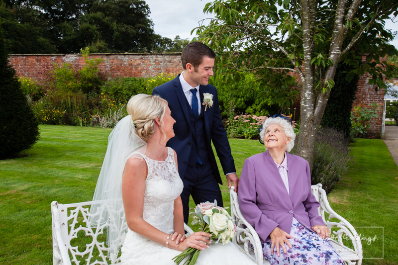groom having a moment with nanna