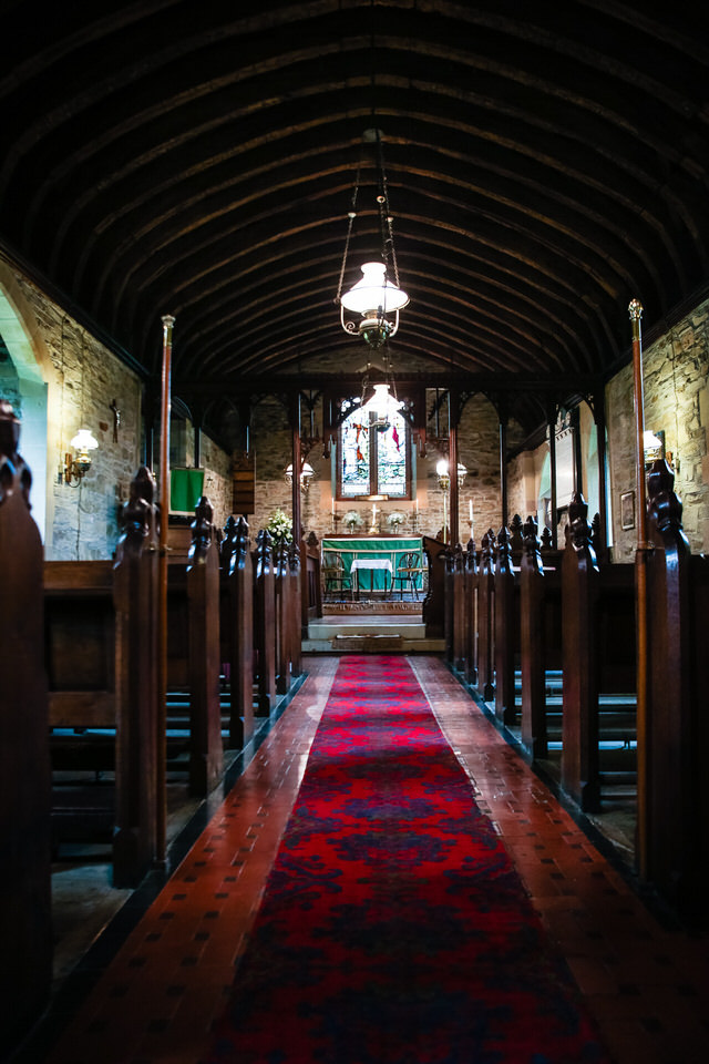 inside st. llwchaiarns church montgomery