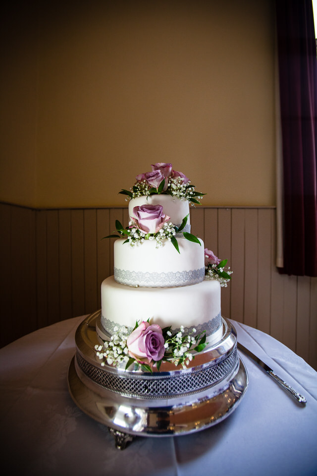 wedding cake at montgomery town hall
