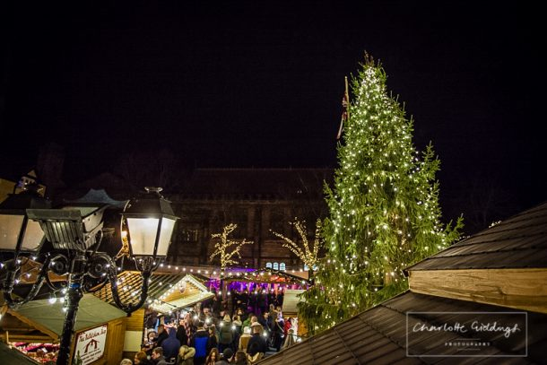 chester christmas markets from the town hall