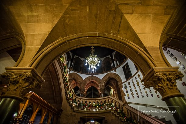 interior of chester town hall christmas