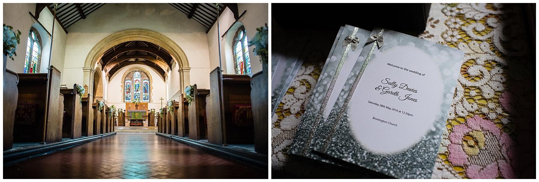 St Marys and St Michaels Church, Burleydam, Whitchurch Shropshire ready for a wedding, Shropshire Wedding Photographer