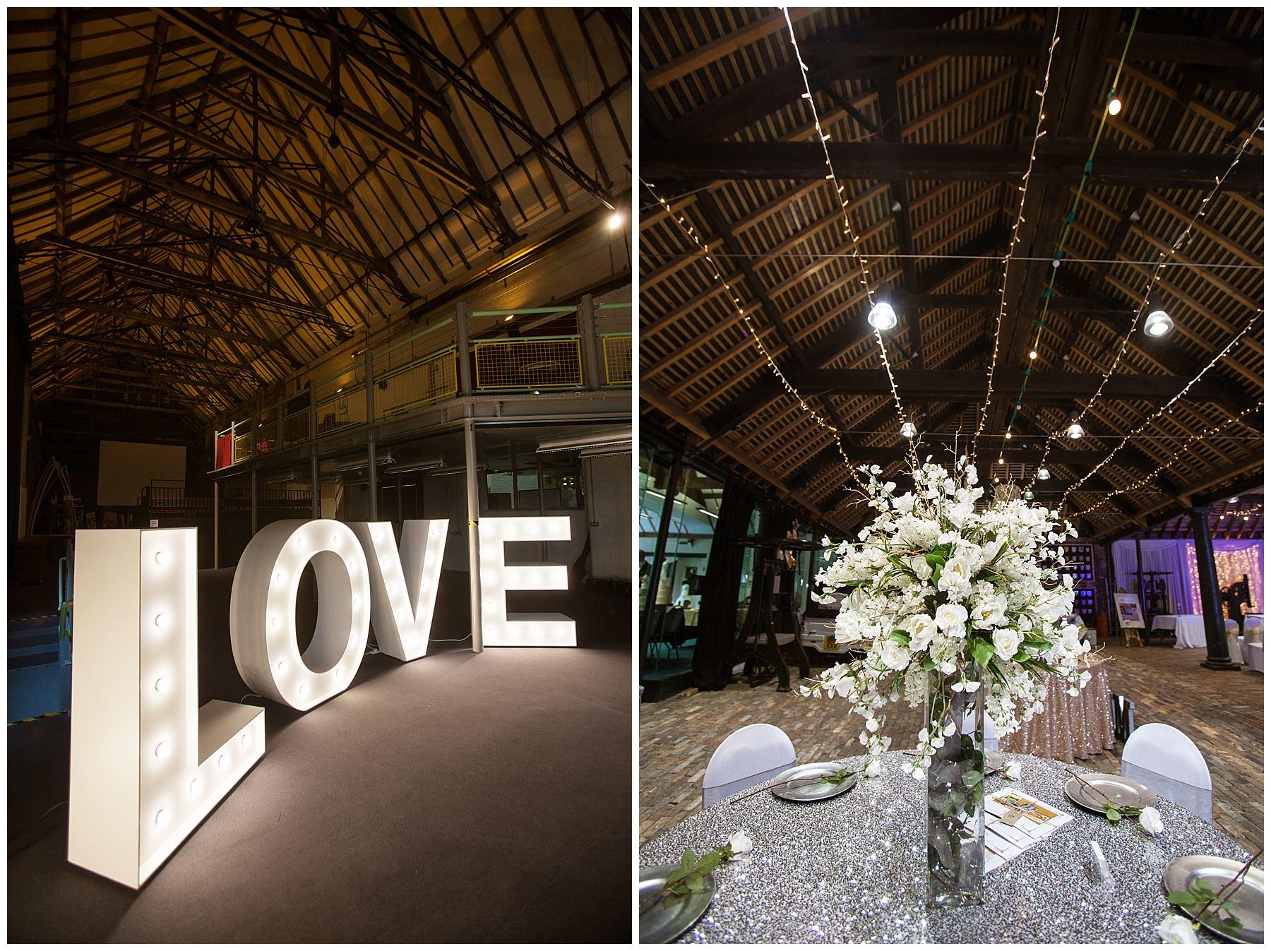 Ironbridge Gorge Musuem set up for wedding - best wedding venues shropshire