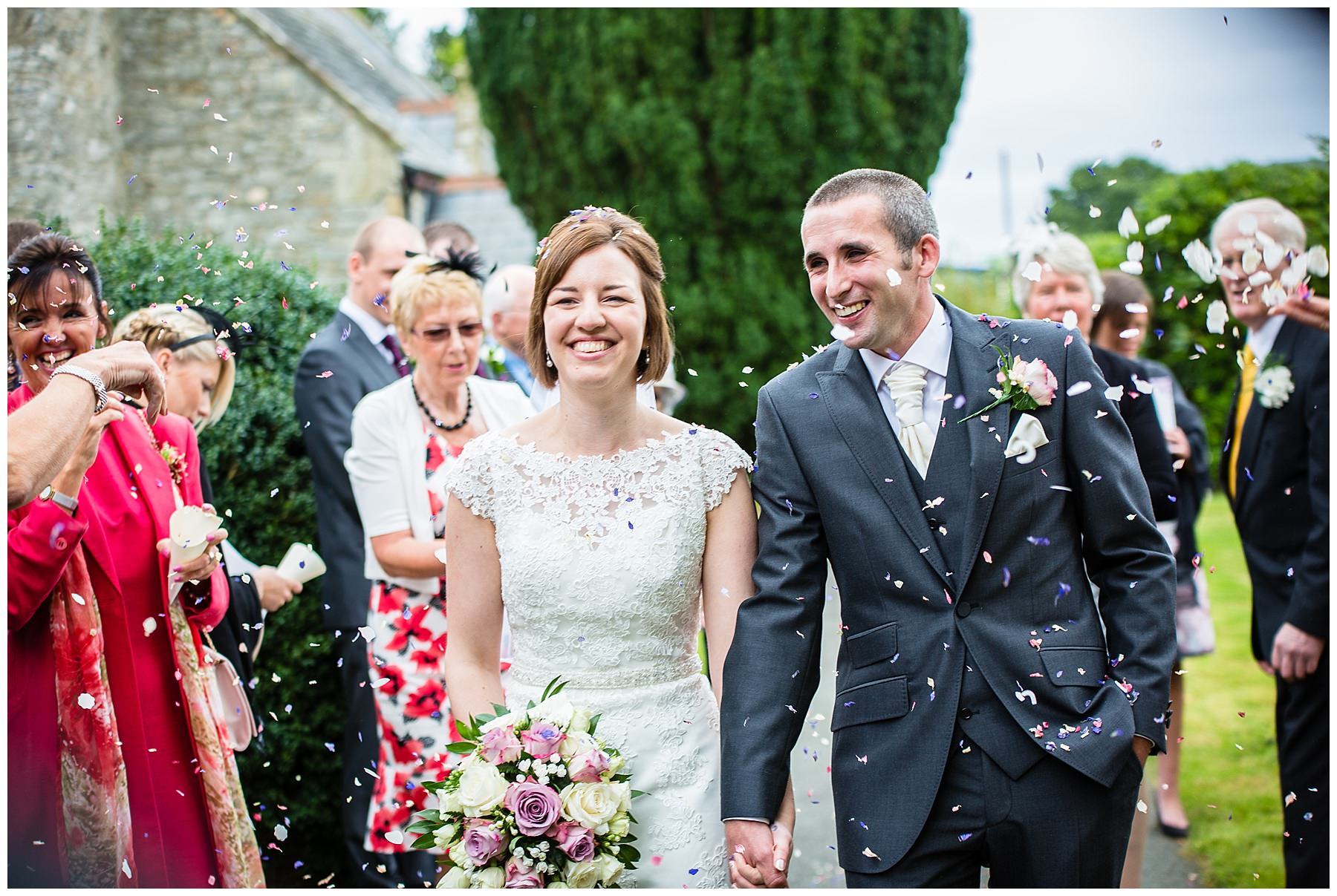 bride and groom photo at montgomery wedding - shropshire wedding photographer