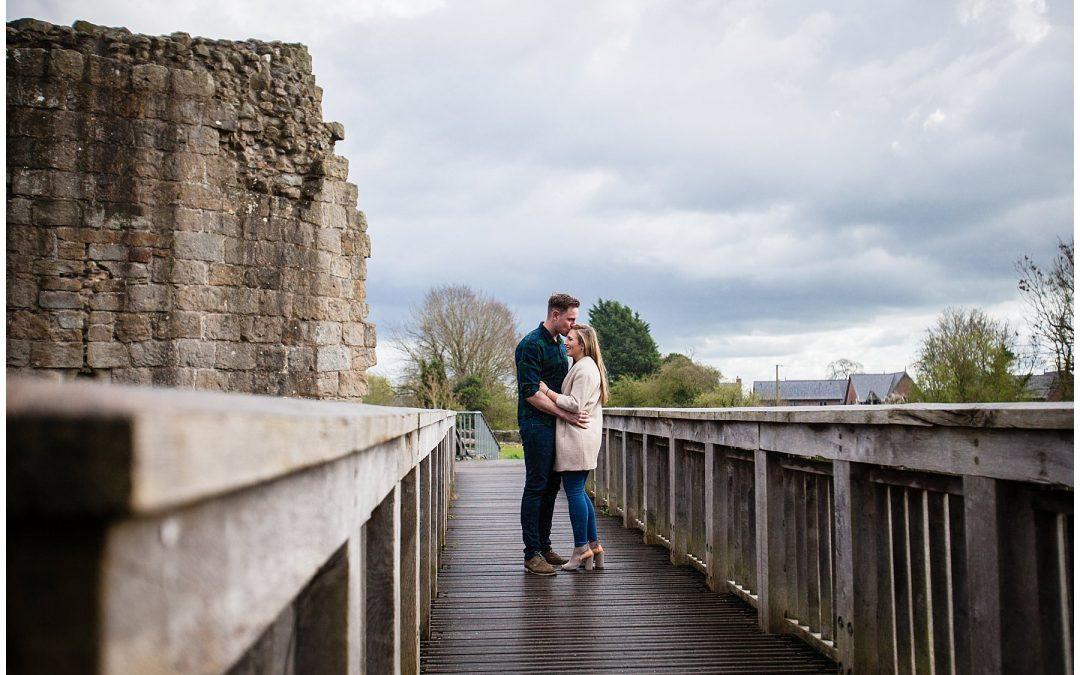 Shropshire Engagement Shoot – Whittington Castle – Will and Sarah