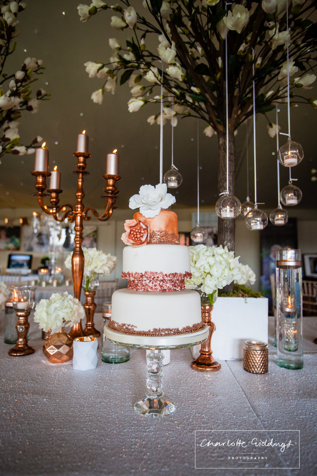 jo's couture cakes - copper theme wedding cake