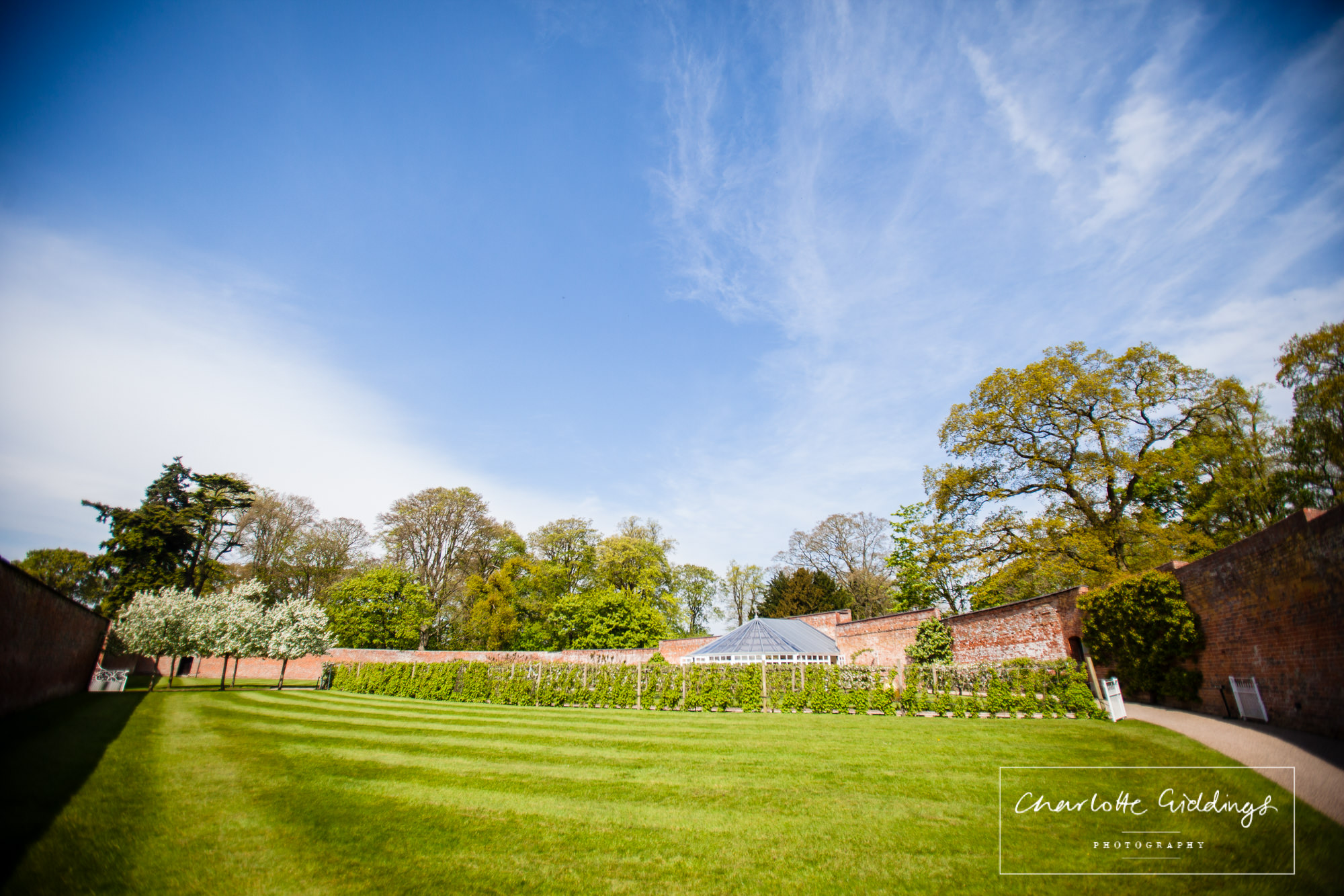 beautiful gardens on a spring day - combermere abbey - recommended supplier shropshire photographer