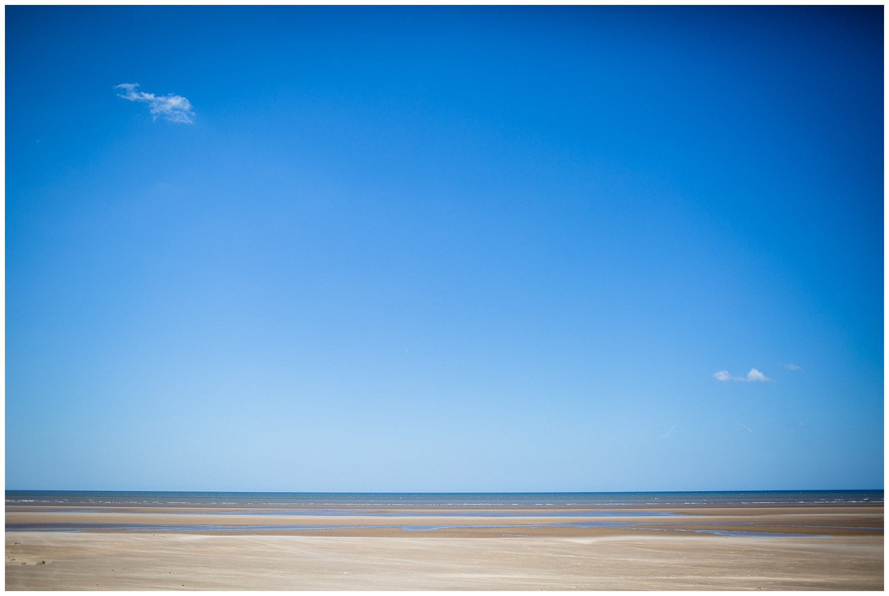 view of the beach and sea at formby beach - shropshire photographer