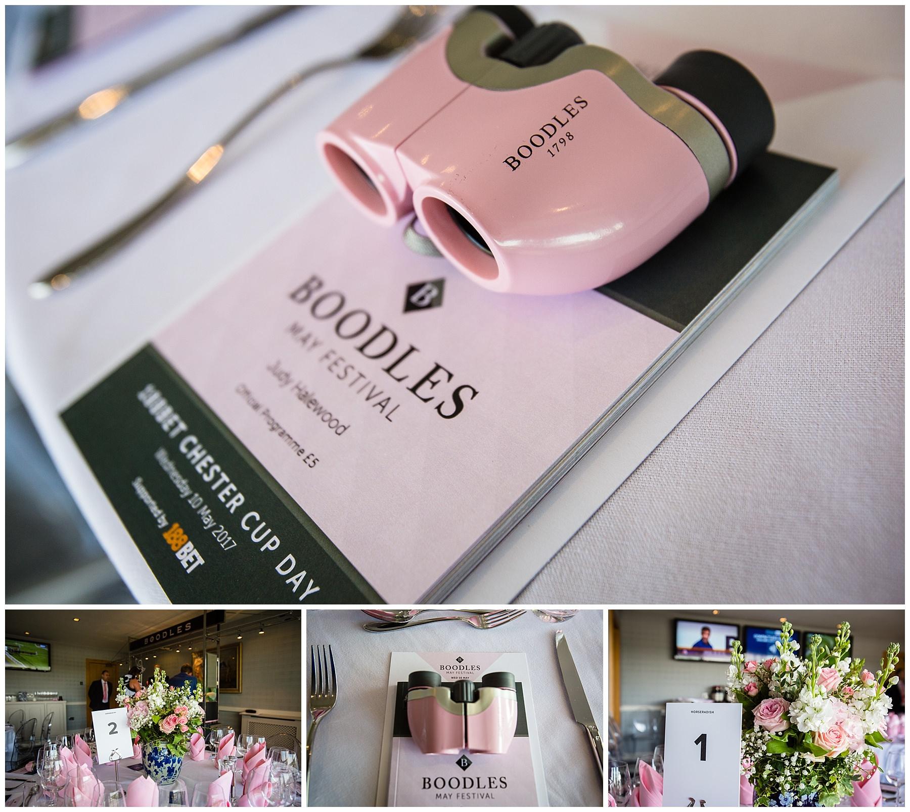 Boodles May Festival 2017 - pink boodles binnochulars