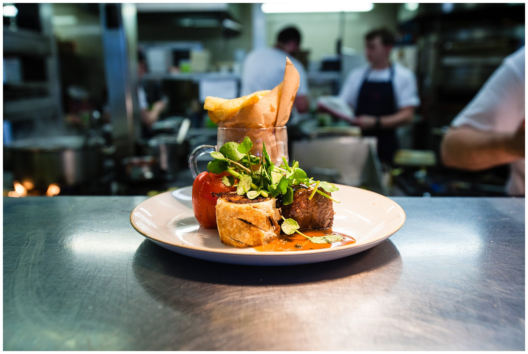 beef dish at chester race course the white horse - food photography