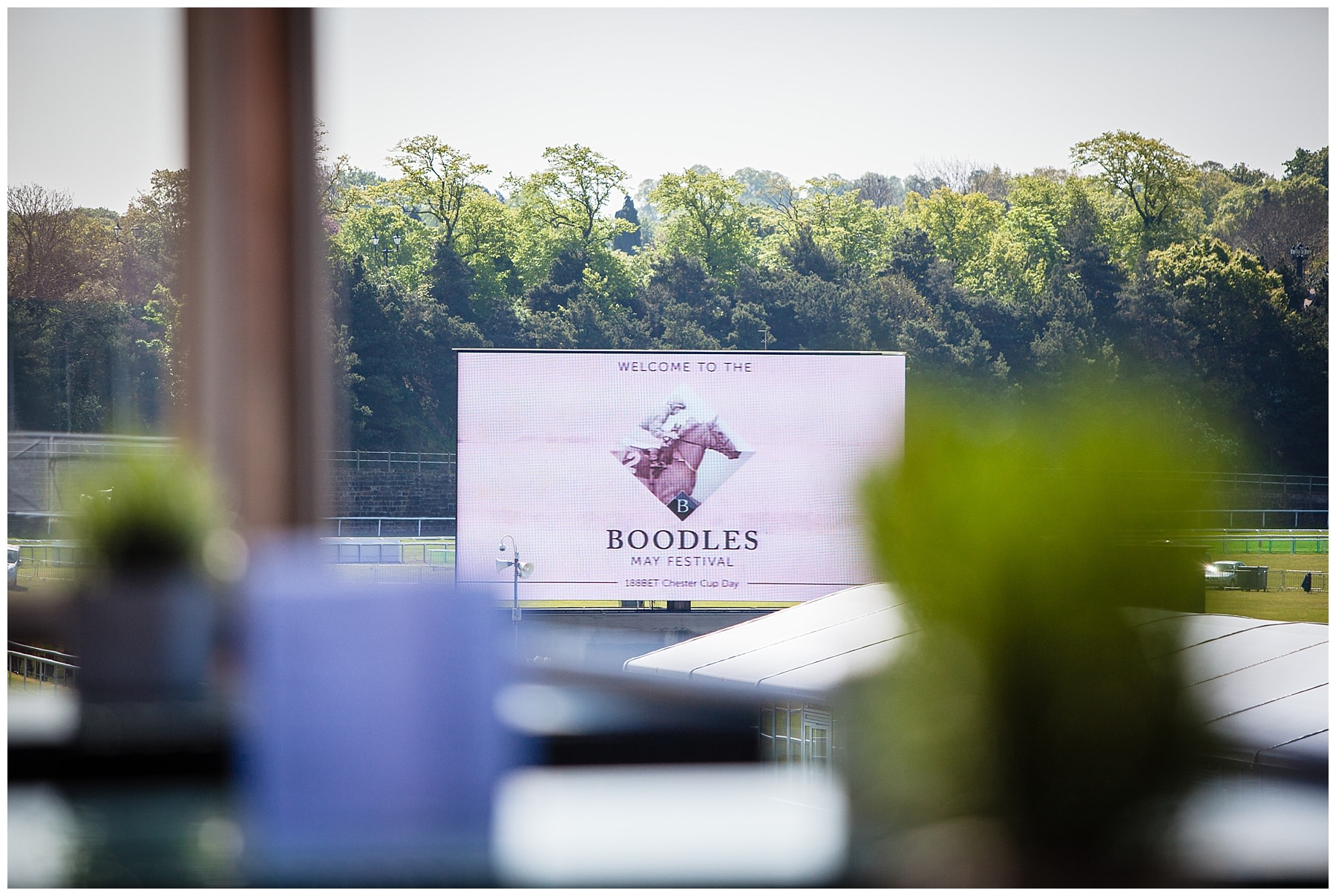 Boodles signage at chester race course - shropshire photographer