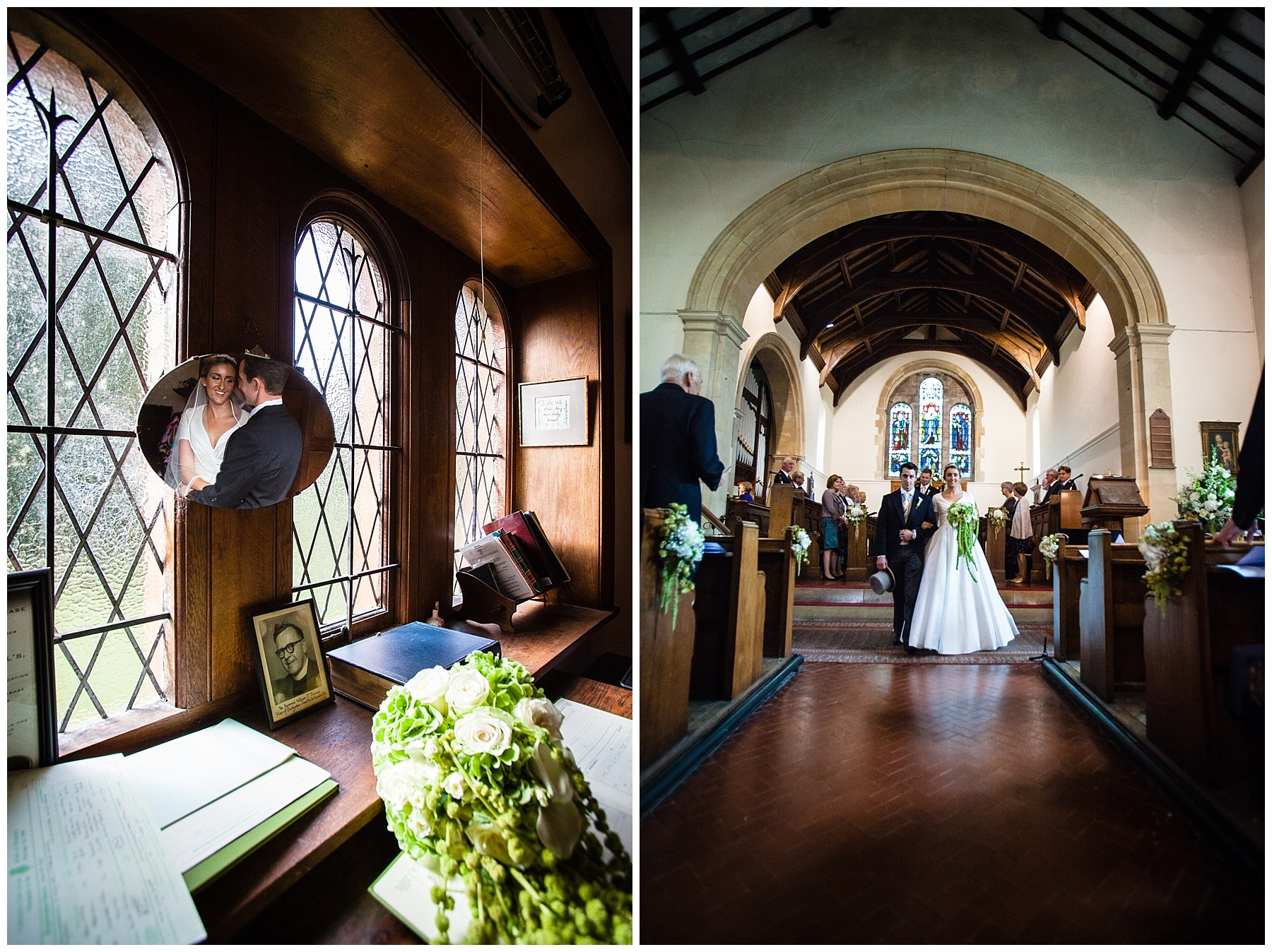 signing the register and walking down the aisle in shropshire church, burleydam
