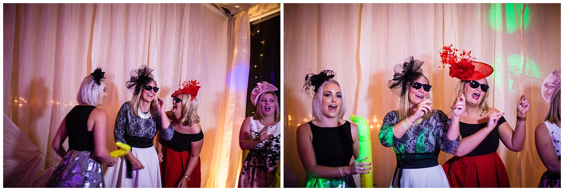 dressing up and singing on the dancefloor - shropshire wedding