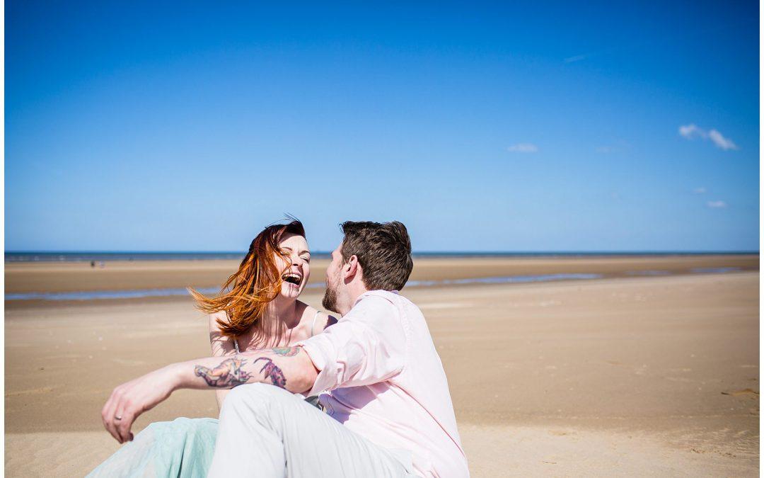 Formby Beach Engagement Shoot