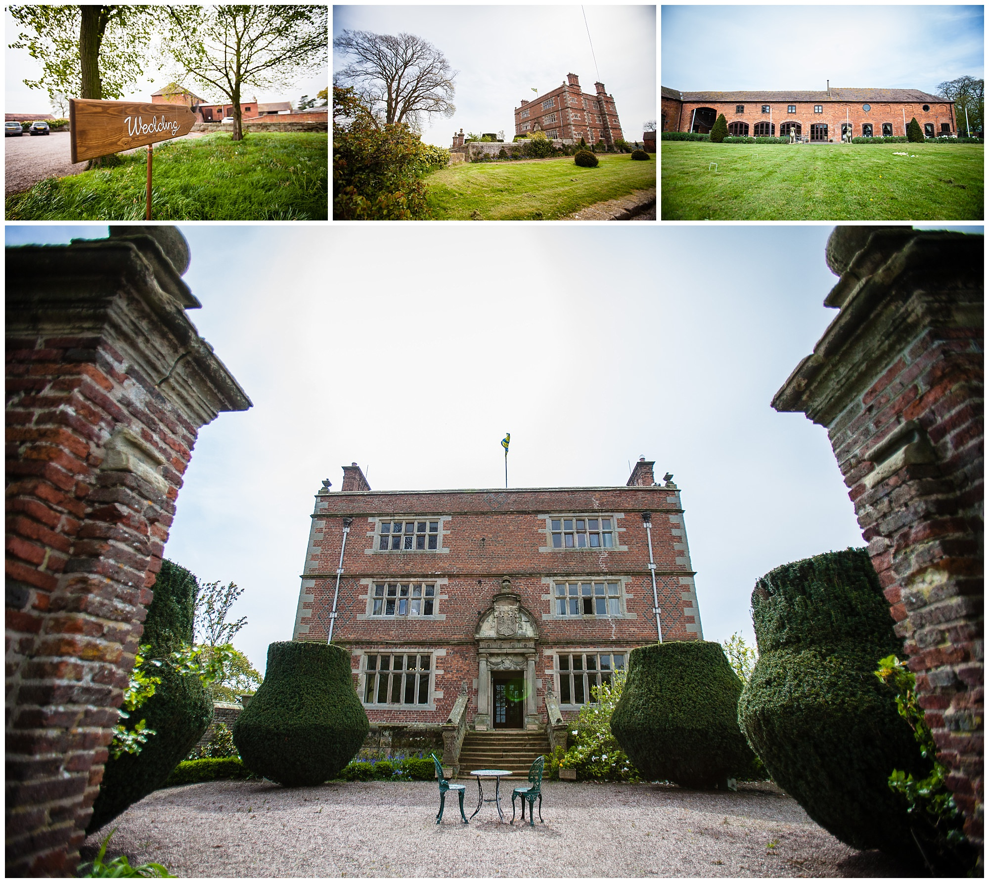 various photos of soulton hall spring wedding venue