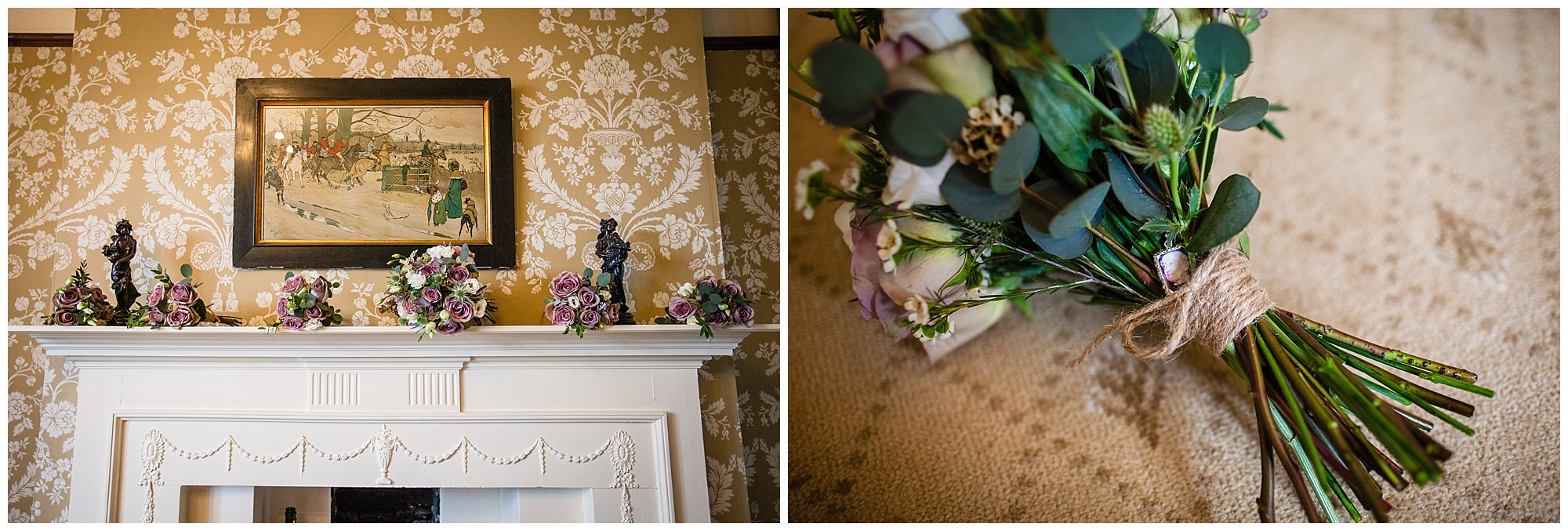 floral details at soulton hall spring wedding