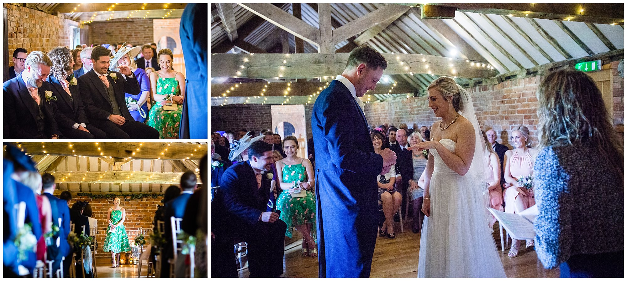 exchange of rings - soulton hall spring wedding