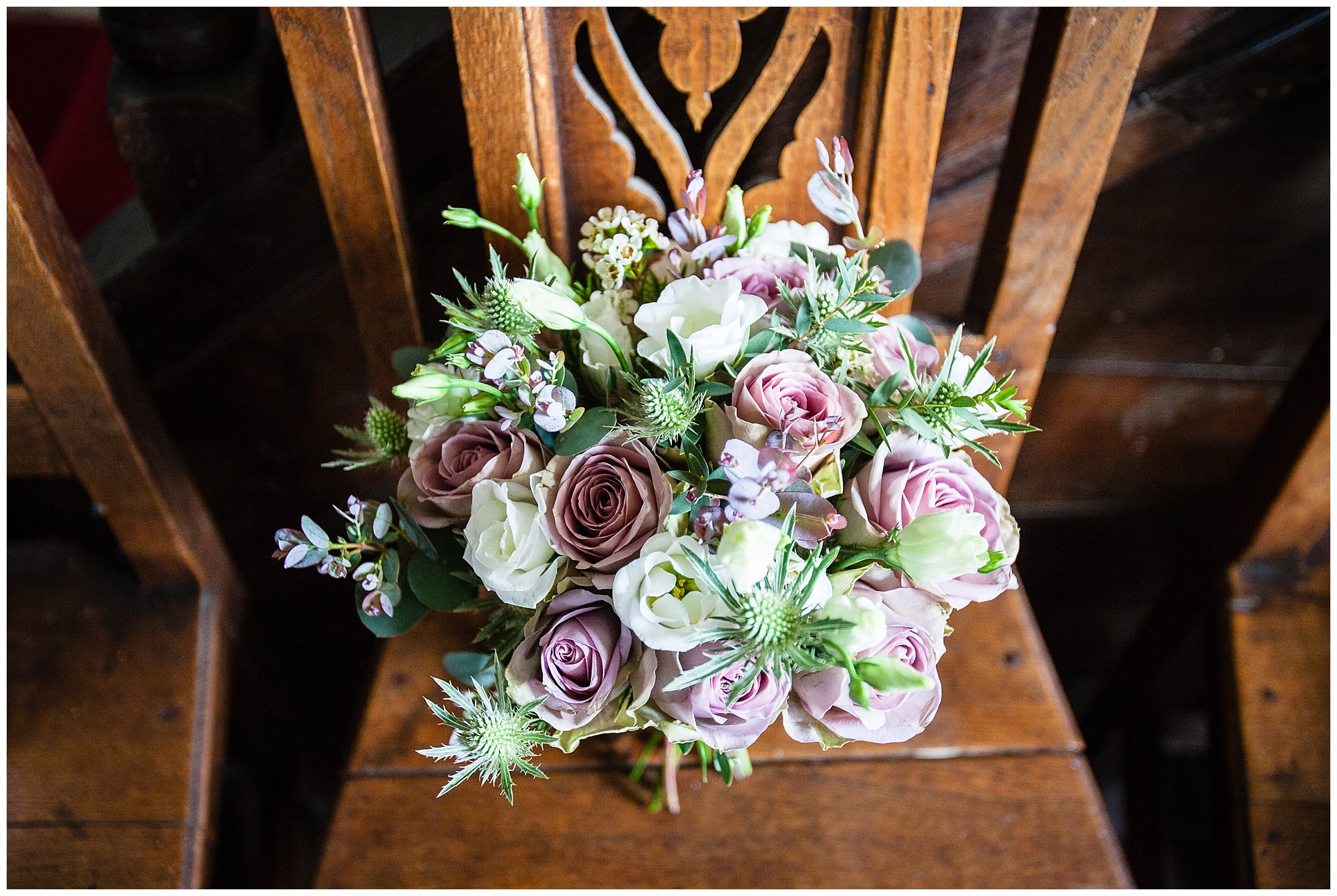 wedding floral bouquet at soulton hall spring wedding