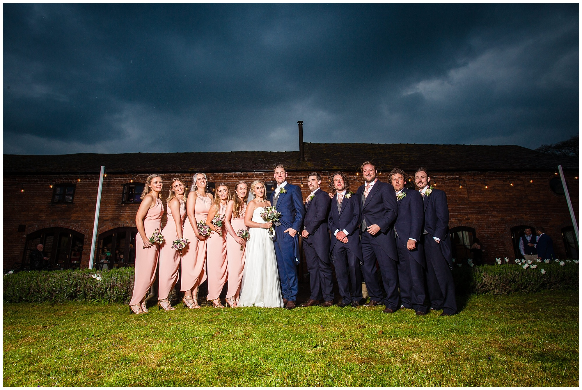 the bridal party - soulton hall spring wedding