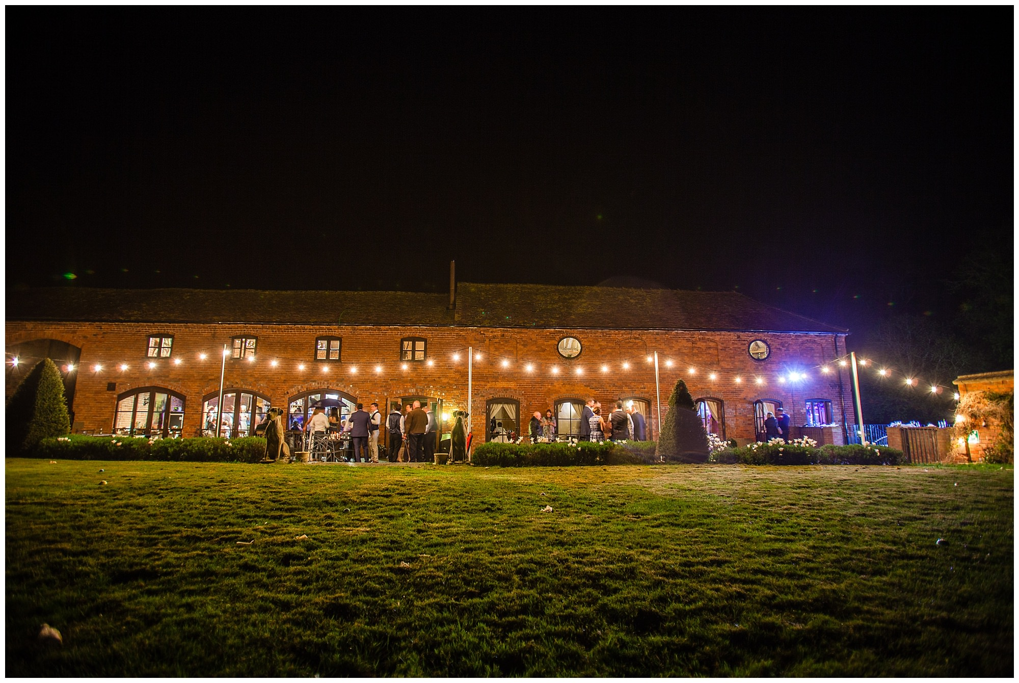 wide shot of the barn and where everything takes place - shropshire wedding photographer
