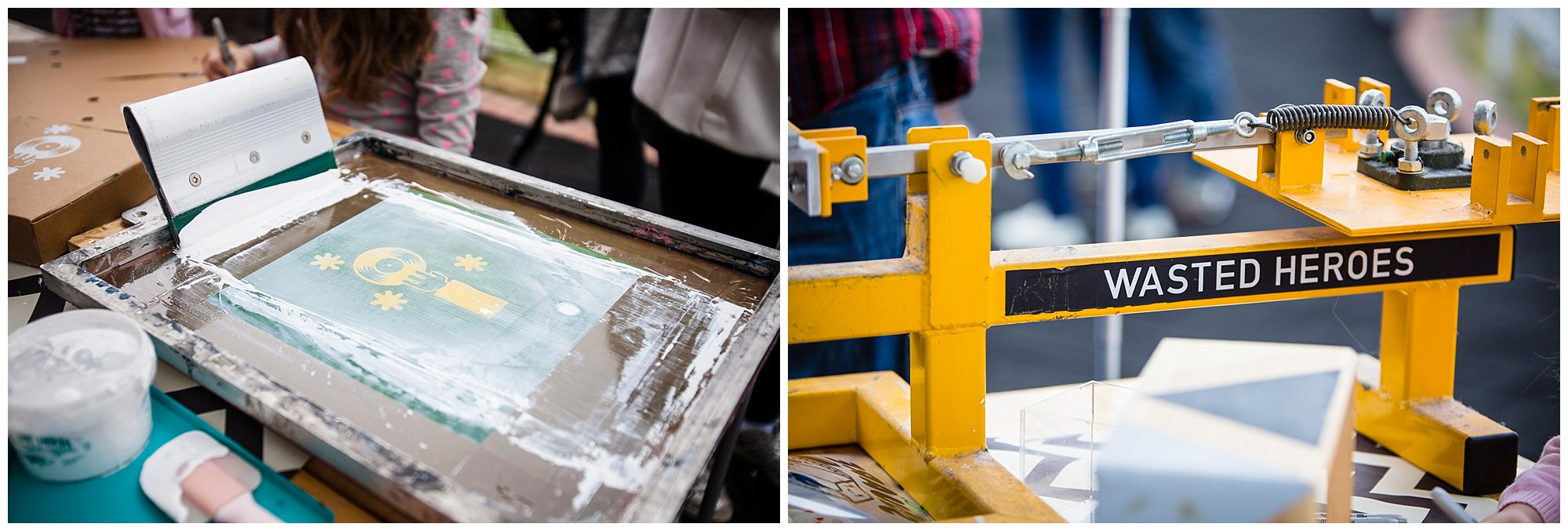 Screen Printing by Square Pegs at The WHite Horse Family Pub