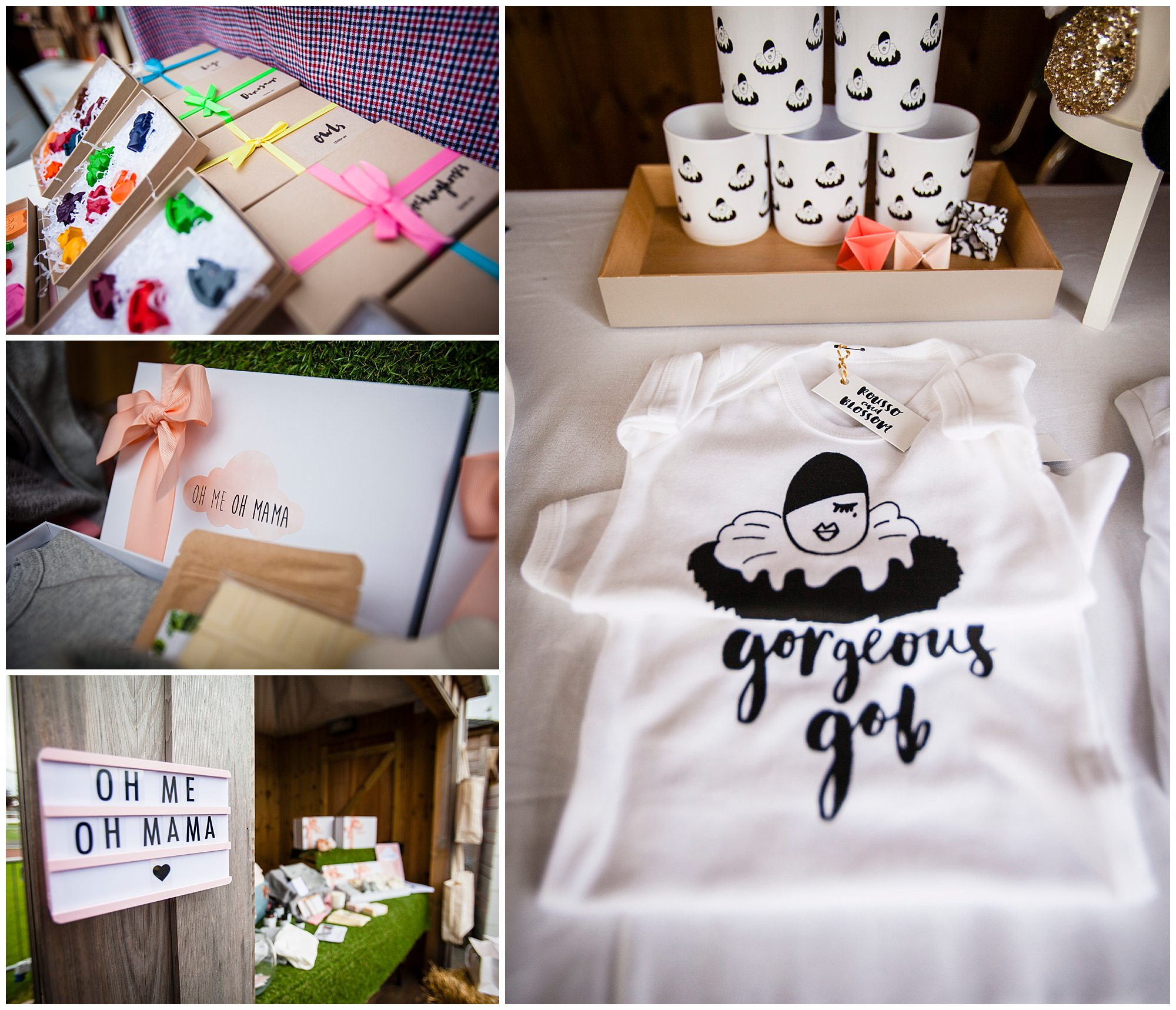 baby items at vendor stalls captured by cheshire family event photographer