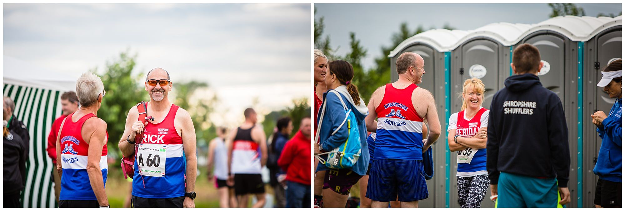 man stretching and team shots - alderford lake event photographer