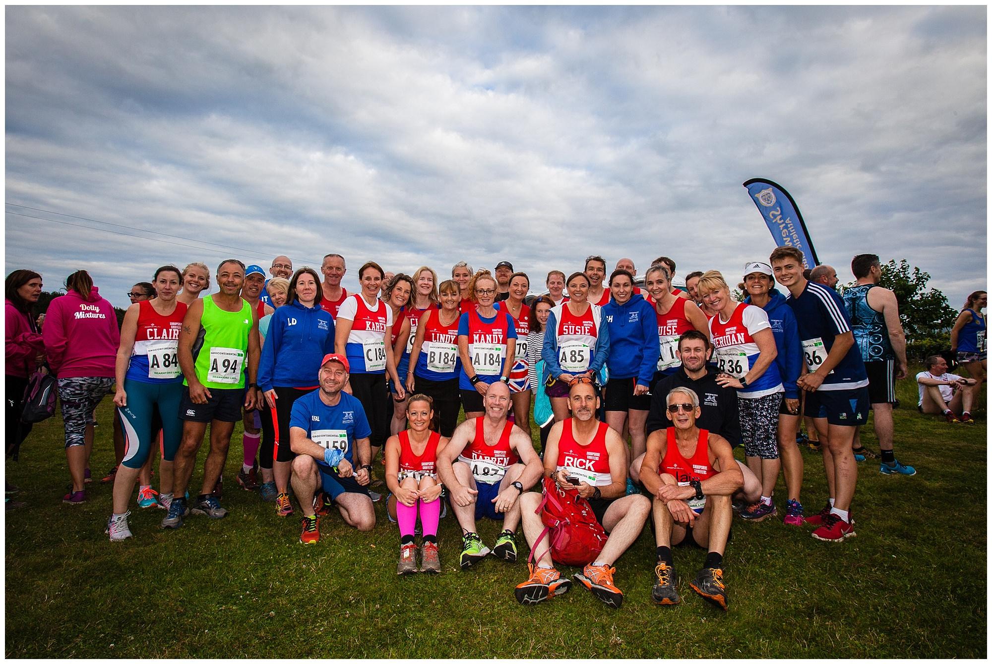 large team photo at alderford lake - shropshire photographer