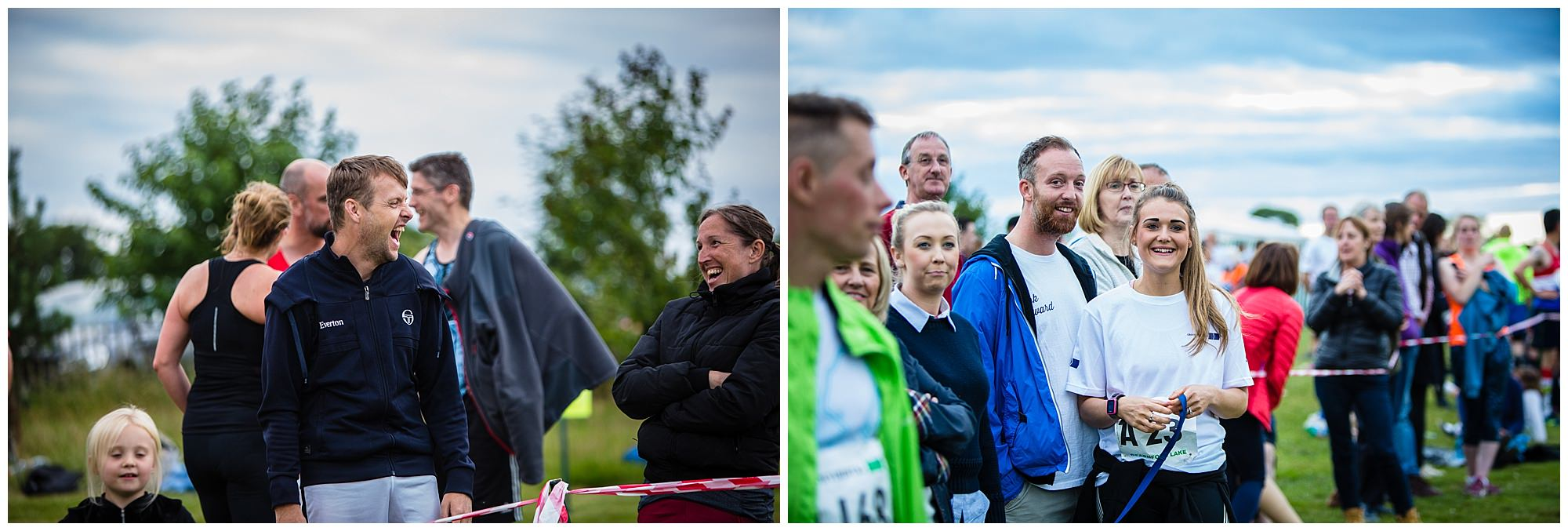 runners family and friends supporting runners during the running event . whitchurch