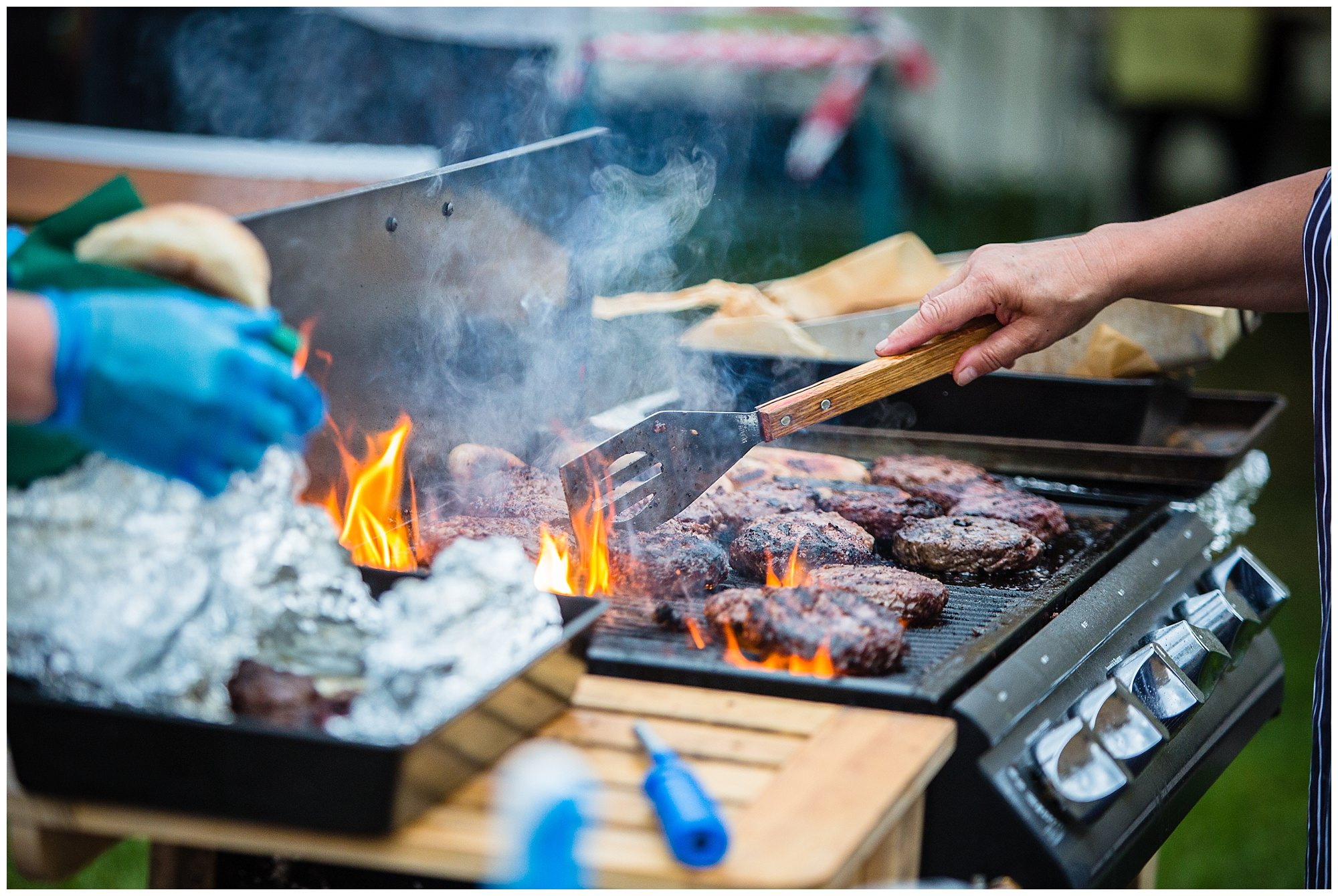 bbq post event for the runners - charlotte giddings phtotography