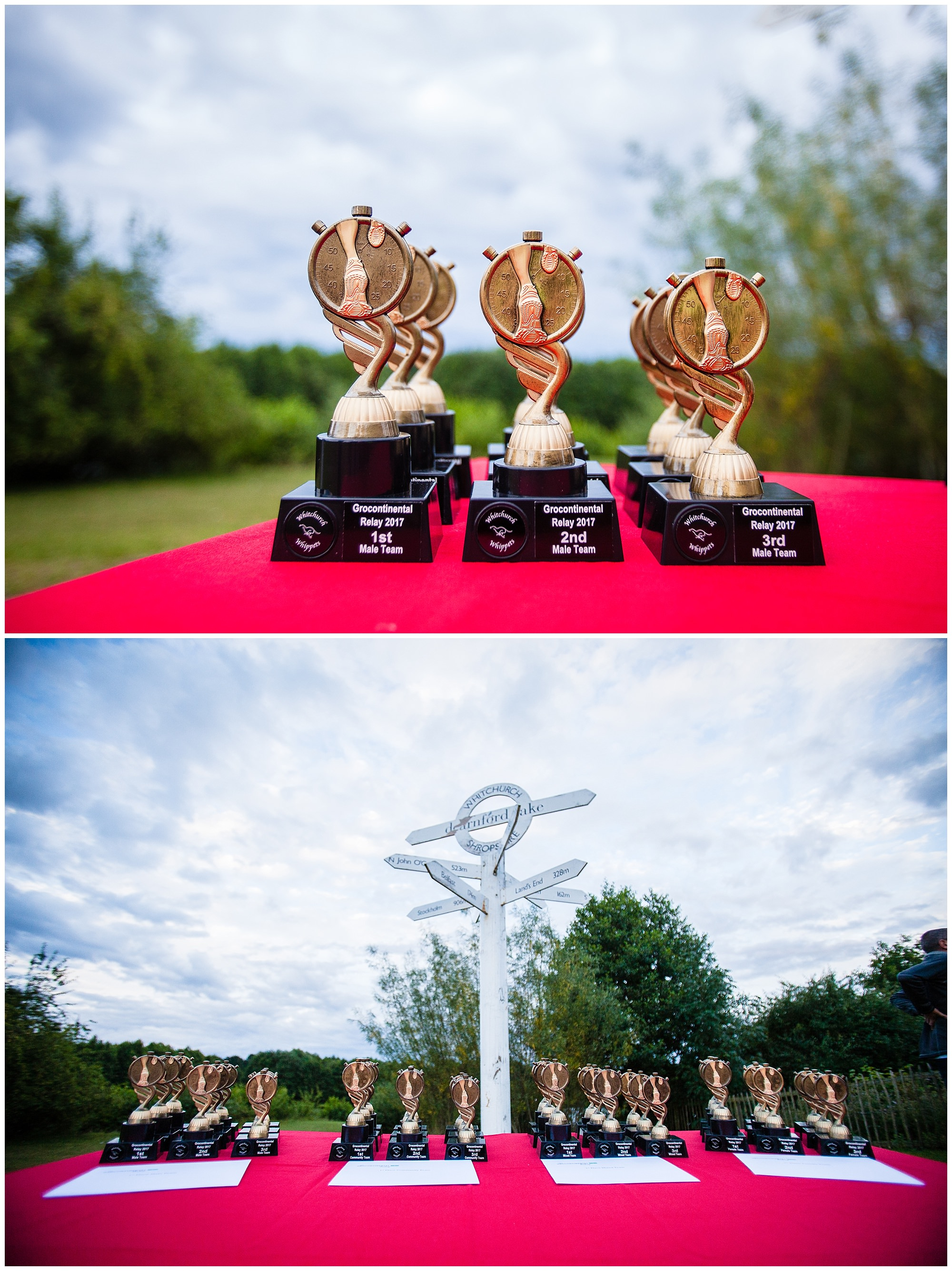 trophies ready for alderford lake relay presentation