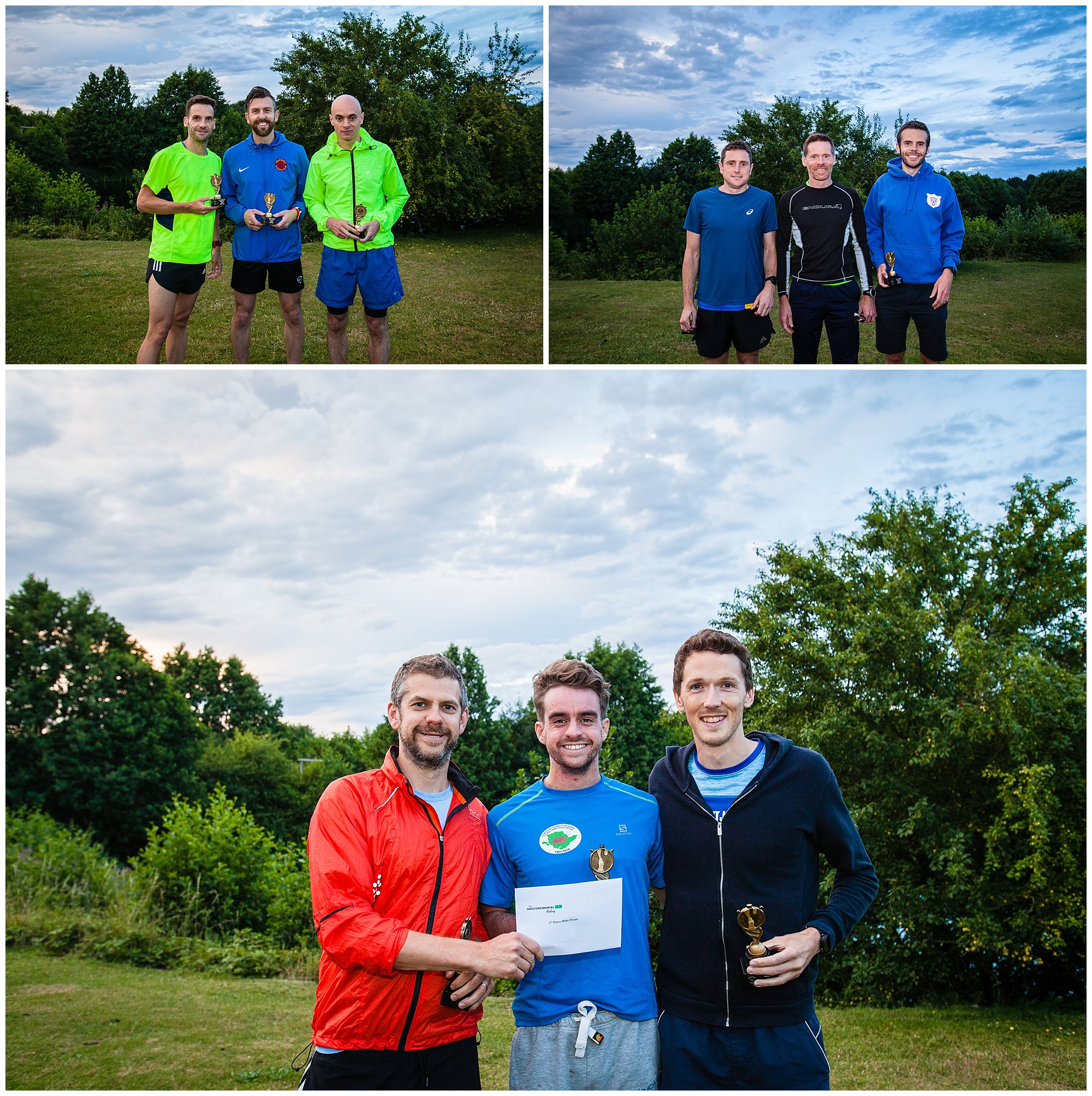 winners of categories at aldeford lake relay event