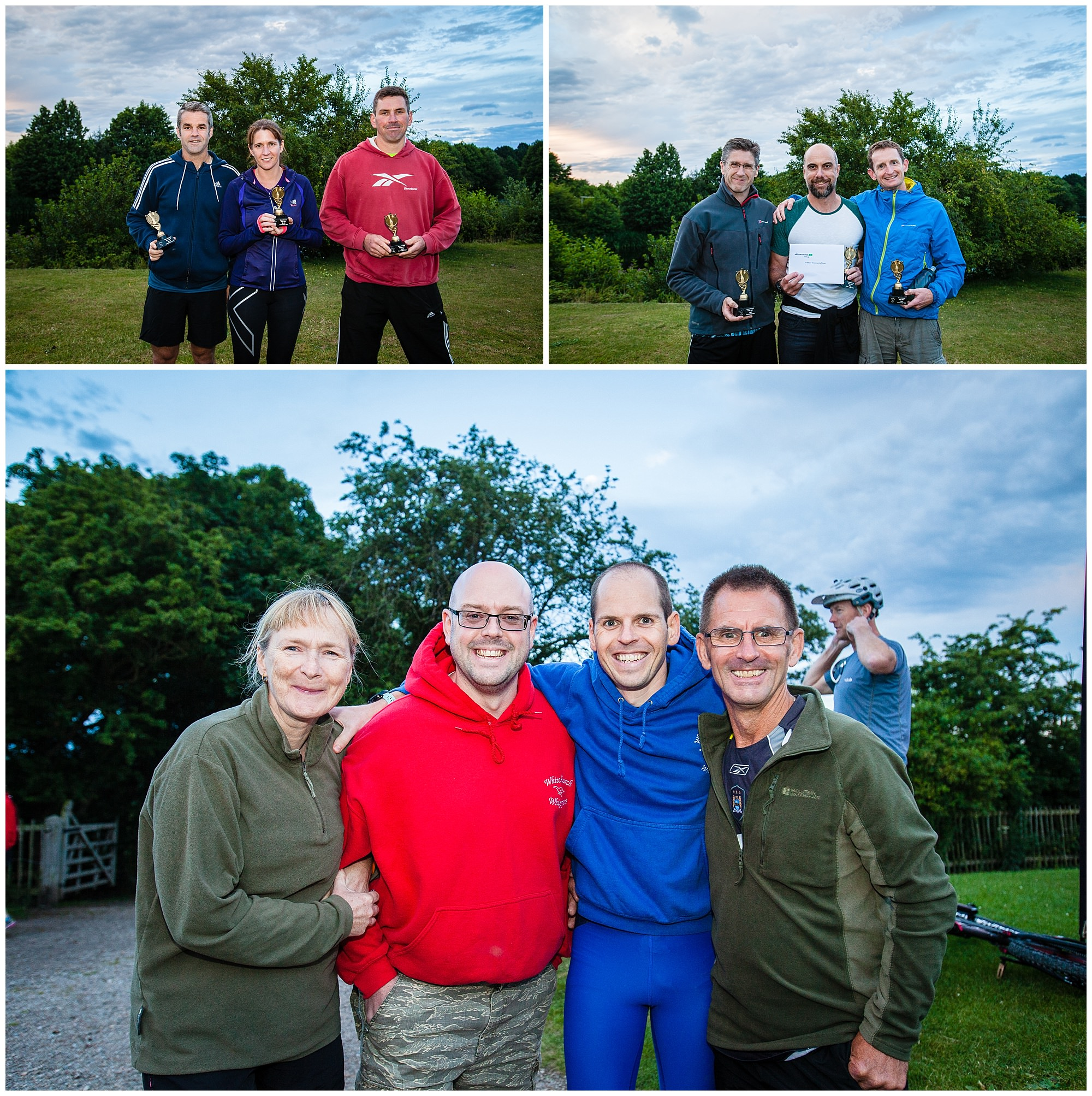 winners of categories at alderford lake -shropshire running event