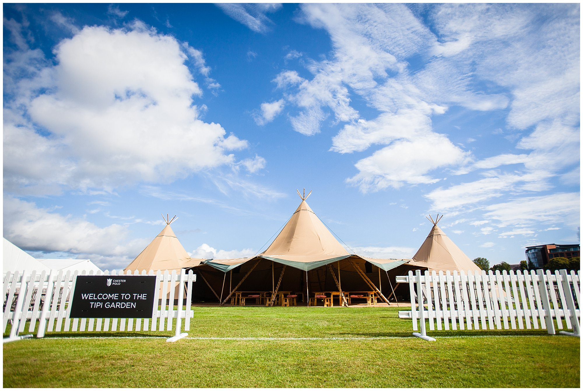 hospitality tipi set up at chester race course