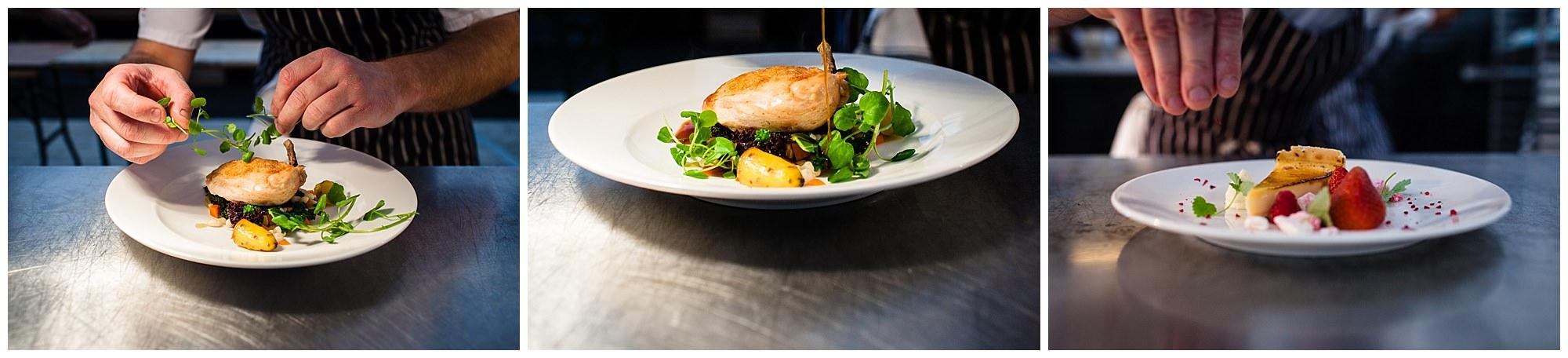 chicken dish created by horseradish caterers - food photographer cheshire