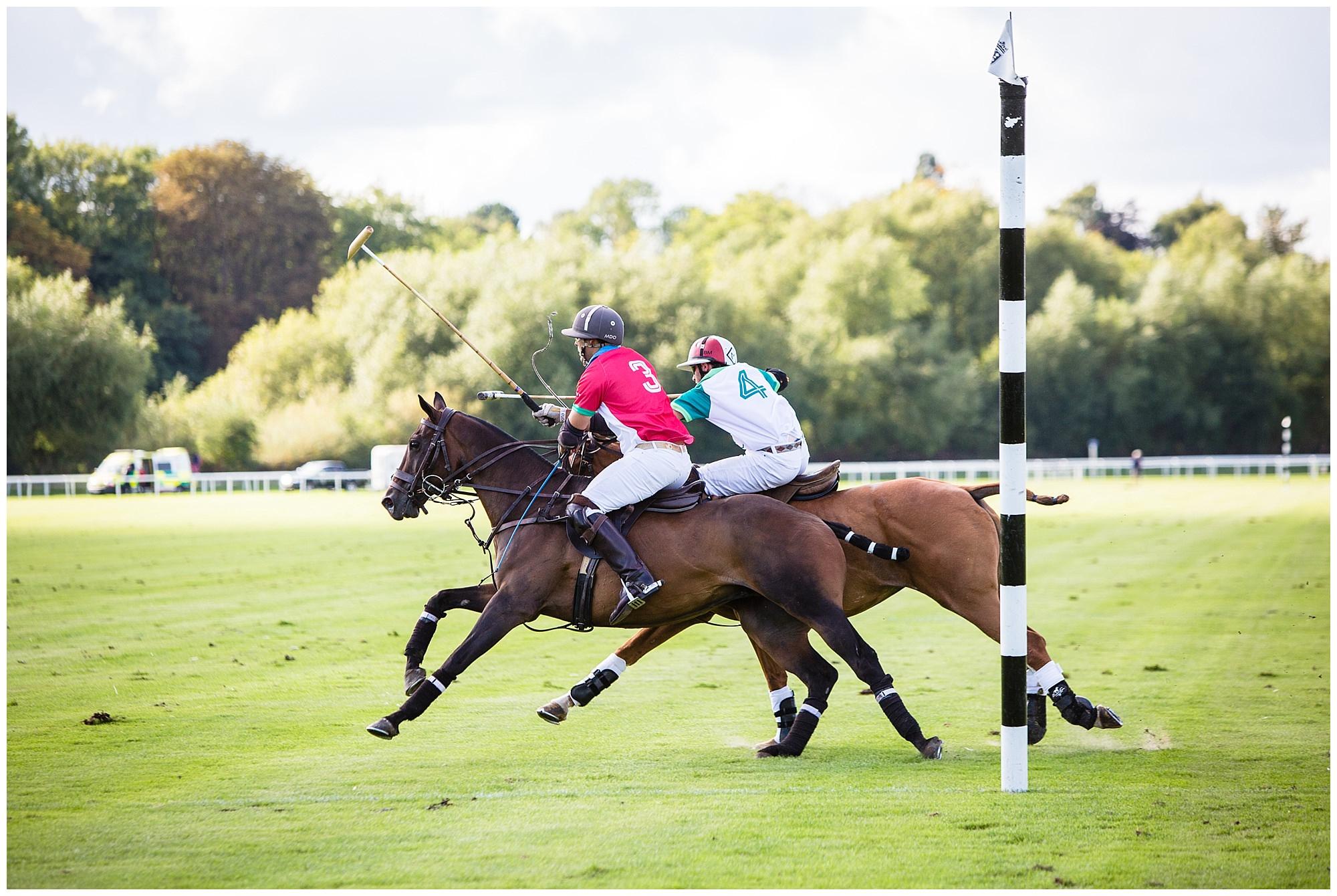 polo action scoring a goal - chester race course action