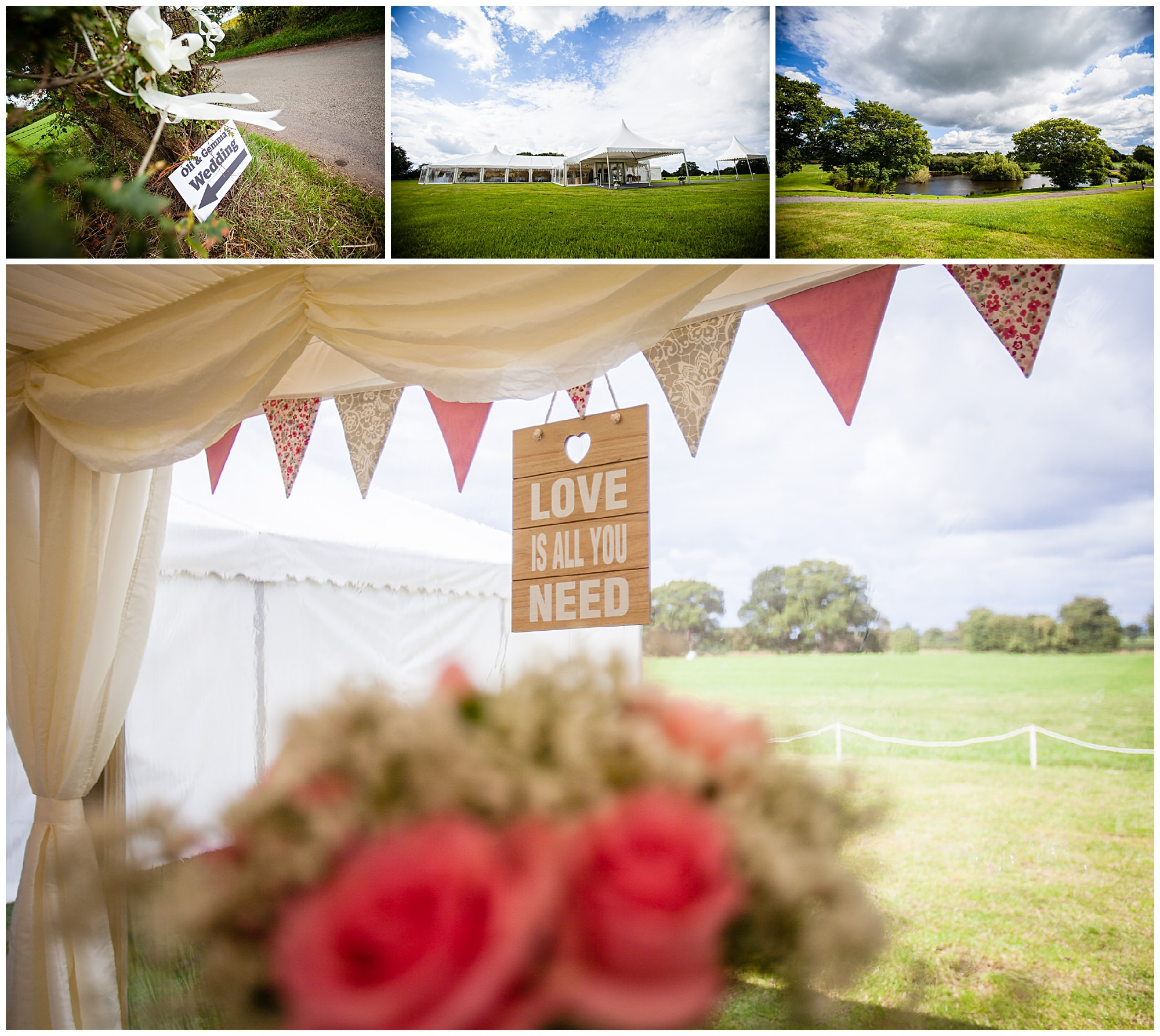 audlem cheshire marquee wedding - St James' Church Audlem Wedding Photography