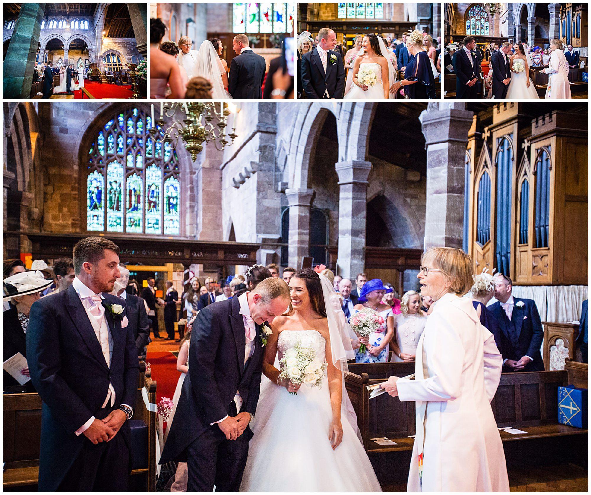 various photos of St. James' Church Audlem Wedding Photography