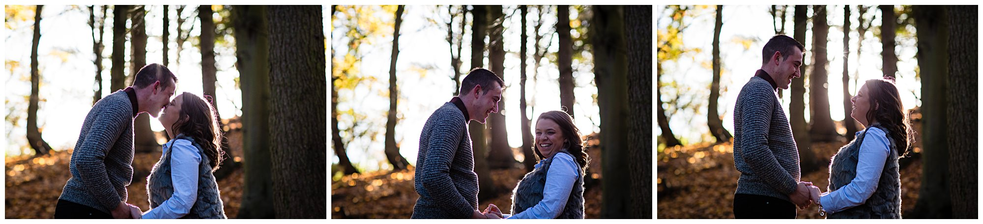 madly in love couple laughing at each other backlit from the sunshine - charlotte giddings photography